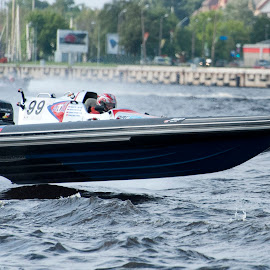 Power Boat Racing by Keith Reling - Transportation Boats ( power boat, power boat racing )