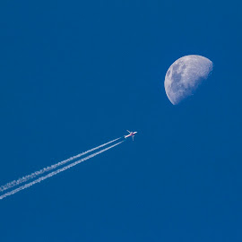 Fly me to the Moon by Kim Ogden - Landscapes Travel ( flight, moon, plane, fly, lunar, journey, photography )