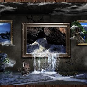 Living art by S. S. - Digital Art Things ( living art digital art design abstract nature ship fantasy trees )