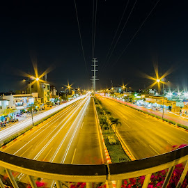 Street in HoChiMinh city by Nguyen Dung - City,  Street & Park  Street Scenes ( lights, nature, street, outdoor, long exposure, cityscape, landscape )