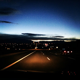 Colorado a Night View by Rachel Seitz - Instagram & Mobile iPhone ( sunset, streetscape, colorado, night sky, nightscape,  )
