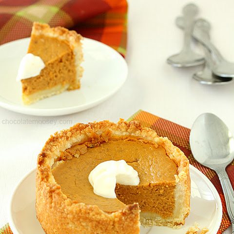 Mini Deep Dish Pumpkin Pies