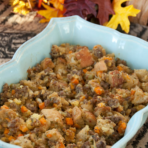 Sourdough Cornbread and Sausage Stuffing