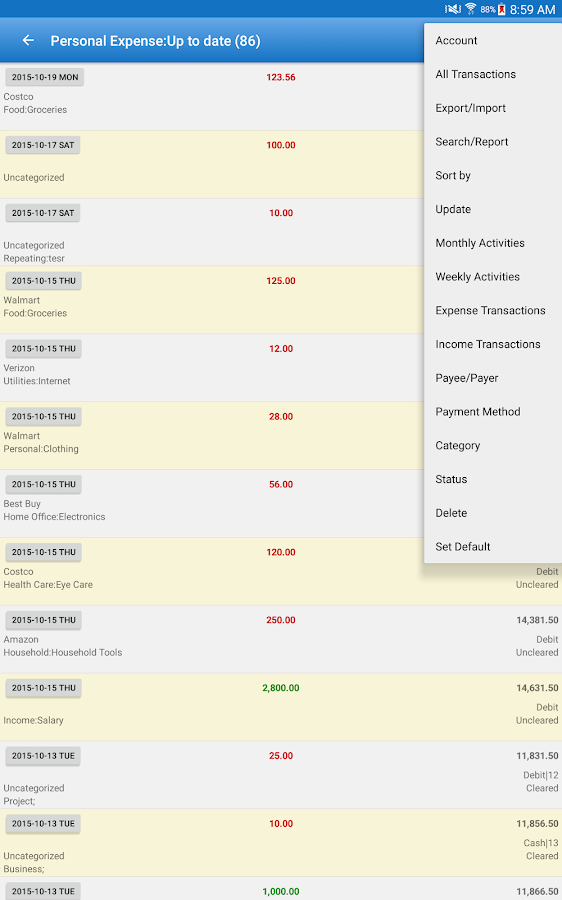 Expense Manager Pro Screenshot 9