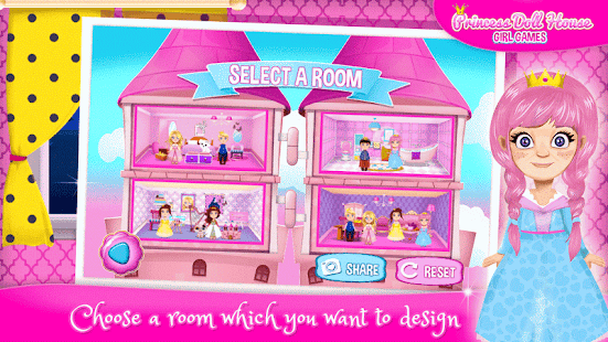 Princess Doll House Girl Games - screenshot