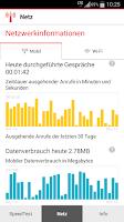 Screenshot of Vodafone SpeedTest