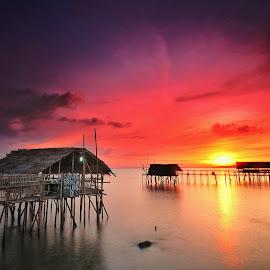 Untitled by ArRy Fridiansyah - Landscapes Sunsets & Sunrises ( slowspeed, landscape photography, long exposure, sunrise, slow shutter )