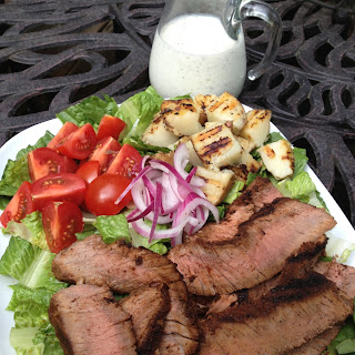 Grilled Steak & Potatoes Salad with Parmesan Peppercorn Ranch Dressing