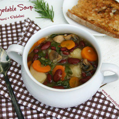 Rustic Vegetable Soup with Red Beans + Potatoes