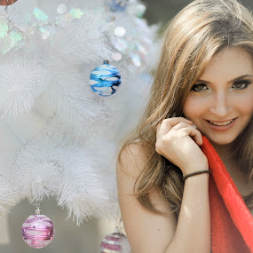 Beutiful Santa by Menkar Kartawisastra - People Portraits of Women