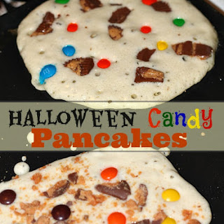 Halloween Candy Pancakes
