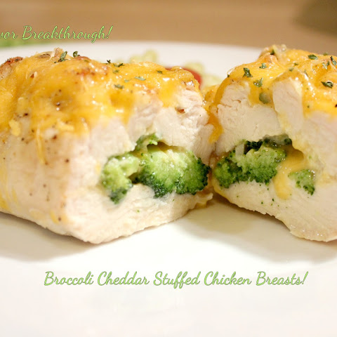 Broccoli Cheddar Stuffed Chicken Breasts!