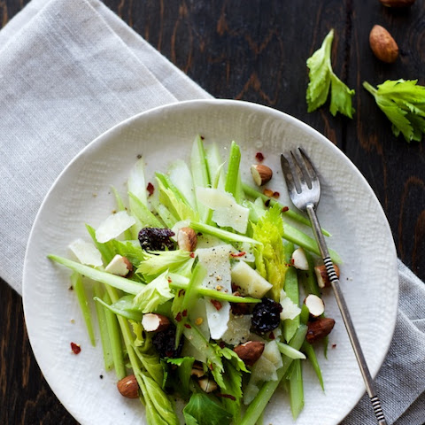 Celery Salad with Dried Cherries + Almonds