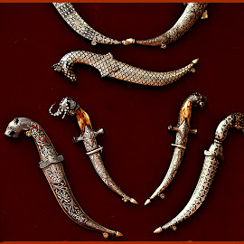 Decorative Knives by Prasanta Das - Artistic Objects Clothing & Accessories ( royal attire, decorative, knives )