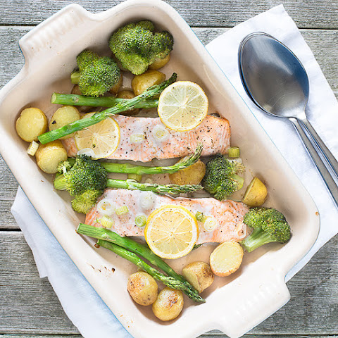 One-Tray Baked Salmon