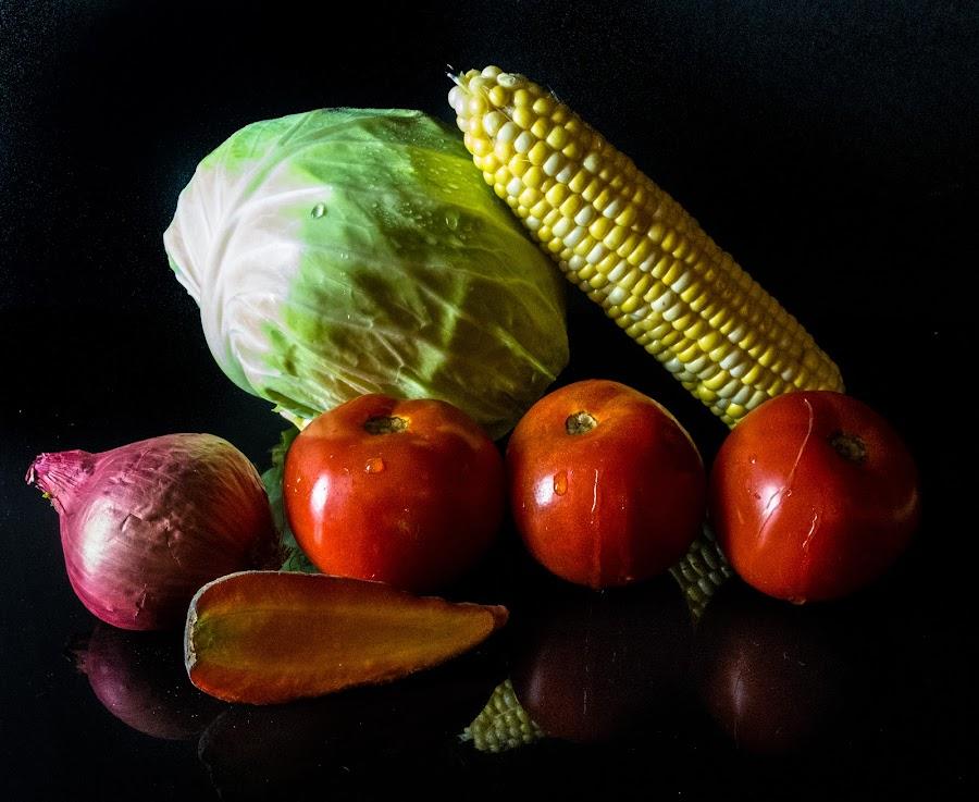 Vegetable Medley by Antonio Winston - Food & Drink Fruits & Vegetables