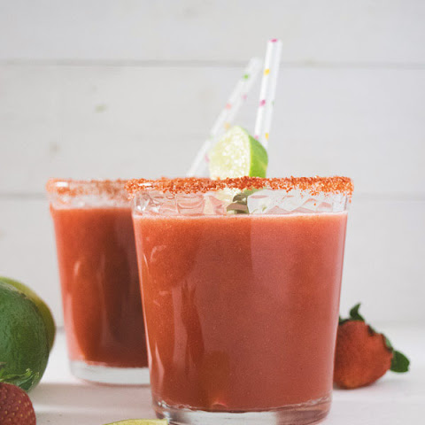 Homemade Spicy Strawberry Limeade