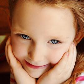 Impish Smile by Cheryl Korotky - Babies & Children Child Portraits