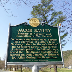 JACOB BAYLEY Founder of Newbury and Revolutionary War General Veteran of the Indian Wars, Bayley led a migration of settlers from Newbury, Mass to the rich lands of the Coos here at the Great ox-Bow. ...