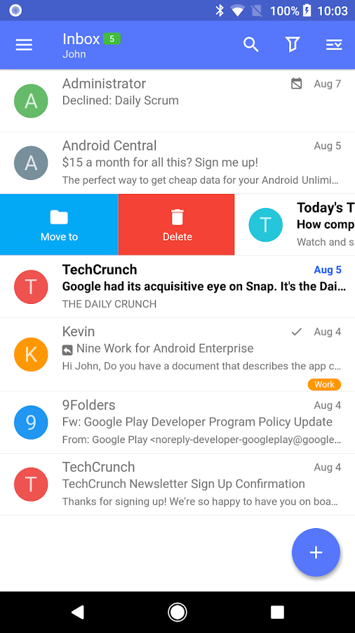 Nine - Email & Calendar Screenshot 0