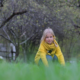 Green grass girl by Nenad Klasić - Babies & Children Child Portraits ( girl, nature, park, grass, green, beauty,  )