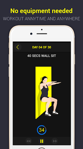 30 Day Wall Sit Challenge Pro - screenshot