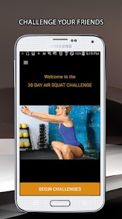 30 Day Air Squat Challenges Fitness app screenshot for Android