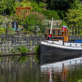 Boat by Alan  R Dyson - Transportation Boats ( water, canon, hebden bridge, boat )