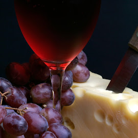 Food Props by Bob Ricketson - Food & Drink Meats & Cheeses ( studio, wine, grapes, food, still fife, chesse )