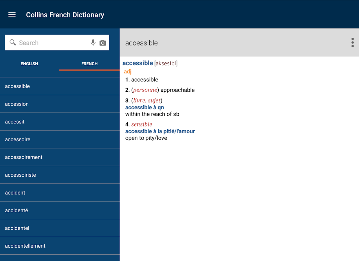 Collins French Dictionary Screenshot 12