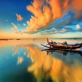 Under The Cloud by Agoes Antara - Transportation Boats