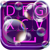 Download Soap Bubble Keyboard Design APK for Laptop
