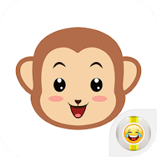 Cute Monkey Emotion Emoji Face