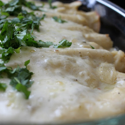 Cream Cheese and Chicken Enchiladas