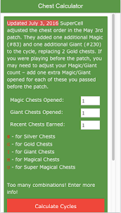 Best Chest Calculator Clash - screenshot
