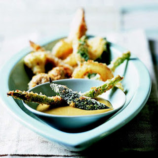 Vegetable Tempura with Honey-Mustard Sauce