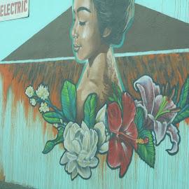 Floral Design Urban art by David Jarrard - City,  Street & Park  Street Scenes ( art.wall art, street scenes, artisic people,  )