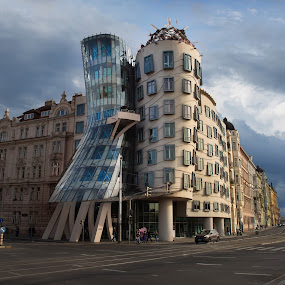 Dancing House by Frank Quax - Buildings & Architecture Public & Historical ( clouds, building, architecture, praag, city )