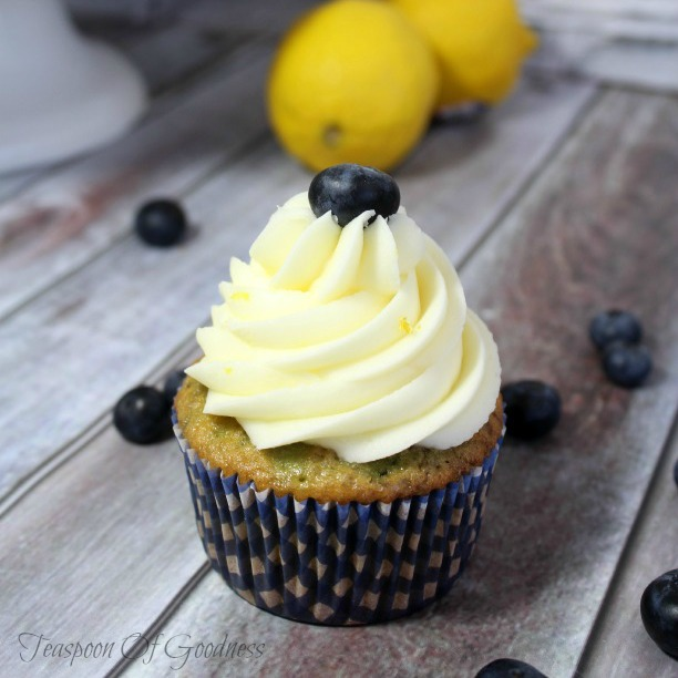 Lemon Cupcakes With Lemon-Blueberry Buttercream Recipes — Dishmaps