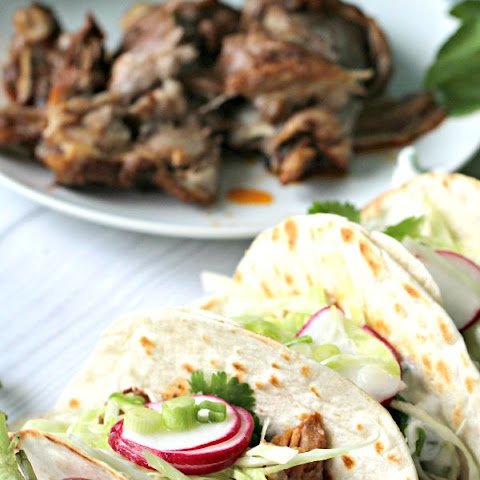 Slow Cooker Beer Ribs Tacos with Jalapeño Tzatziki Sauce