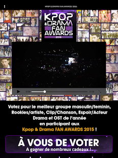 KPOP & DRAMA Fan Awards - screenshot