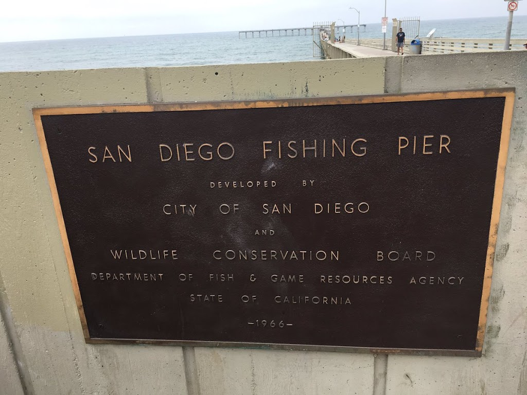 SAN DIEGO FISHING PIER DEVELOPED BY CITY OF SAN DIEGO AND WILDLIFE CONSERVATION BOARD DEPARTMENT OF FISH & GAME RESOURCES AGENCY STATE OF CALIFORNIA -1966- Submitted by @theluisfraire