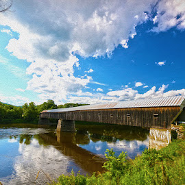 Connections by Nikki Fleming - Landscapes Travel ( covered bridge, landscapes, new hampshire,  )