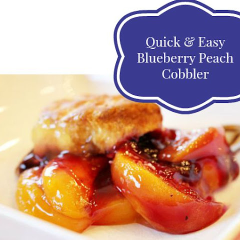 Quick & Easy Blueberry Peach Cobbler