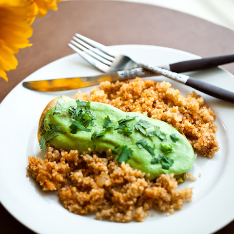 Easy Vegan Green Enchiladas With Mexican Quinoa