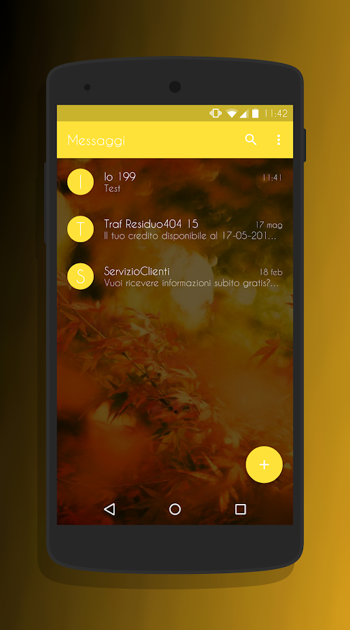 Transparent Gold - CM13 Theme Screenshot 1