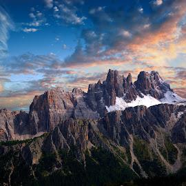 Dolomites Unesco World Heritage by Mark Soetebier - Landscapes Mountains & Hills ( mountains, mountain, sunset, dolomites, alpine, alps )