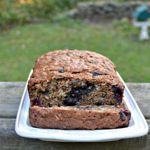 Whole Grain Oatmeal Blueberry Bread
