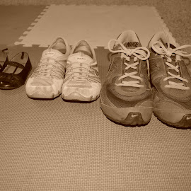 Family sizes by Michele Kelley - Novices Only Objects & Still Life ( difference, sizes, shoes, sepia, family )