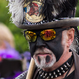 Reflections by Marc Steele - People Musicians & Entertainers ( countryside, uk, morris, wellow, may day, black pig border morris, rural, pig, country, england, bank holiday, nottinghamshire, event, dancer, black )
